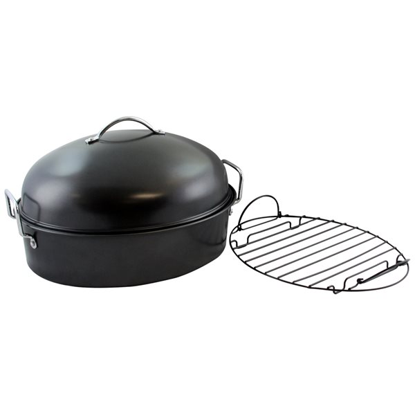 Gibson Home 1-piece Kenmar High Dome 13-in Carbon Steel Baking Pan Lid Included