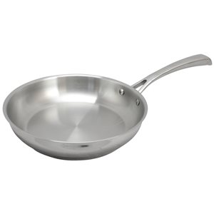 Oster Cuisine 1-piece Derrik Frying Pan 9.5-in Stainless Steel Skillet