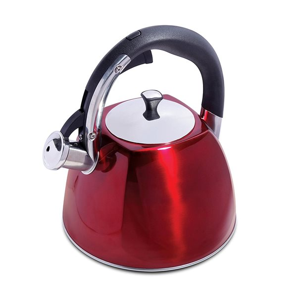Mr. Coffee Red 10.56-Cup Cordless Stovetop Kettle