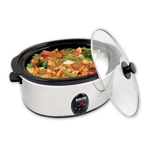 Better Chef 3.7-Quart Silver Oval 1-Vessel Slow Cooker