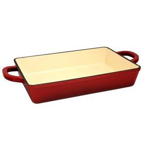 Crock-pot 1-piece Artisan Lasagna Pan 13-in Cast Iron Baking Pan