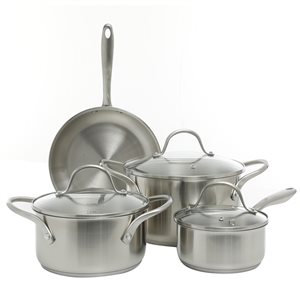 Oster Cuisine 7-piece Gainsford Stainless Steel Cookware Set Lids Included