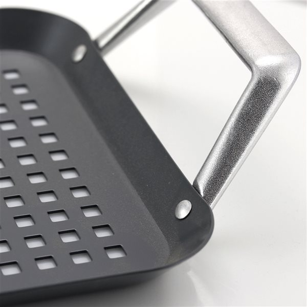 Gibson Home Romford Steel Rectangular Non-Stick Grill Basket