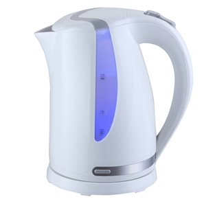 MegaChef White 7.18-Cup Cordless Electric Kettle