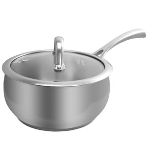 Oster Cuisine 2-piece Derrik Sauce Pan 11.8-in Stainless Steel Cooking Pan Lids Included