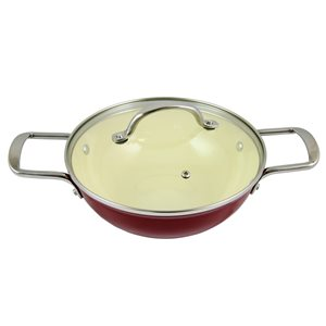Gibson Home 1-piece Lochner 3.25 Quart 10.25-in Cast Iron Cooking Pan Lid Included