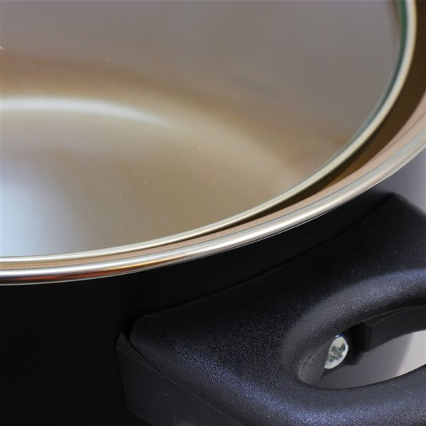 Gibson Home Chef Du Jour 7-Piece 9-in Carbon Steel Cookware Set Lids Included