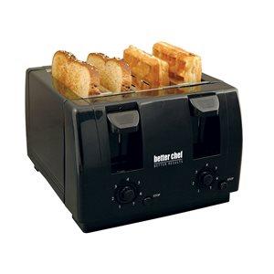 Better Chef 4-Slice Black 1400 W Toaster