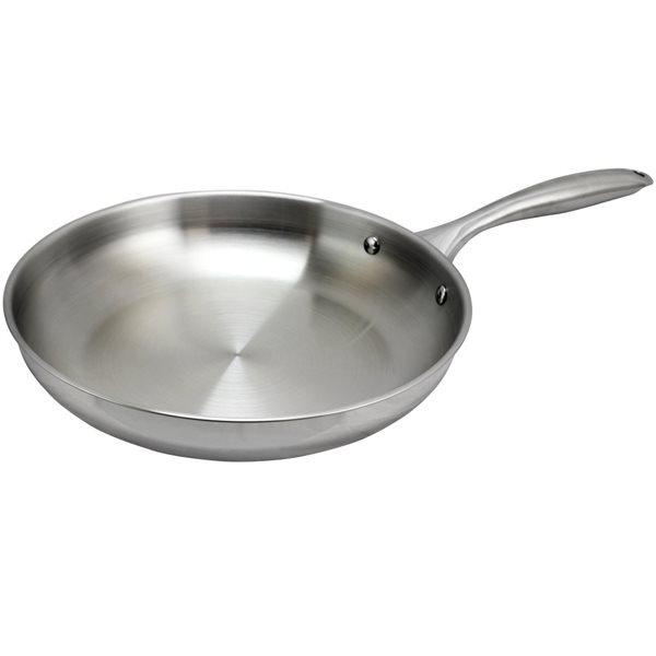 Oster Cuisine 1-piece Saunders Frying Pan 10-in Stainless Steel Skillet