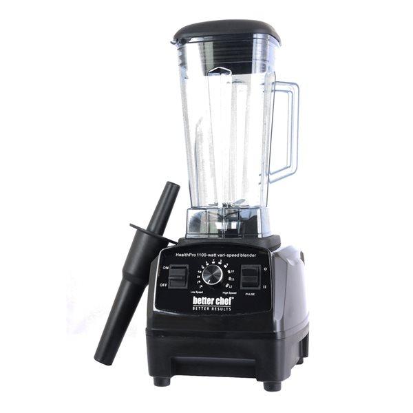 Mélangeur avec contrôle d'impulsions noir de 1100 watts parBetter Chef Health Pro,1,8 oz