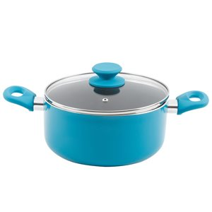 Gibson Home 1-piece Benton Dutch Oven 9-in Aluminum Cooking Pan Lid Included