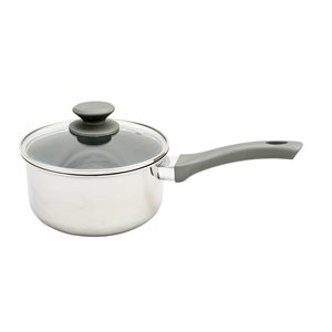 Oster Cuisine 2-piece Rivendell Sauce Pan 7.75-in Stainless Steel Cooking Pan Lids Included