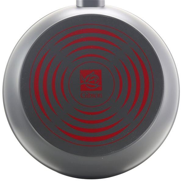 Gibson Home 1-piece Marengo 10-in Aluminum Skillet - Red