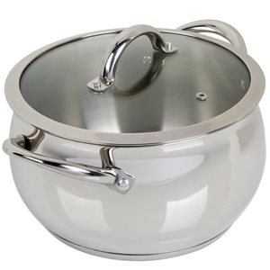 Oster Cuisine 2-piece Derrick Dutch Oven 10-in Stainless Steel Cooking Pan Lids Included