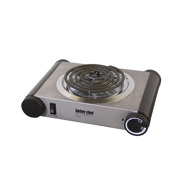 Better Chef 11-in Coil Stainless Steel Electric Cooktop