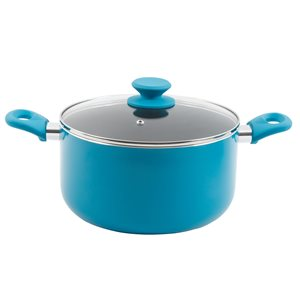 Gibson Home 1-piece Benton Dutch Oven 7.5-in Aluminum Cooking Pan Lid Included