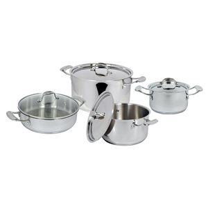 Better Chef 8 Piece Cookware Stainless Steel Cookware Set Lids Included
