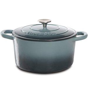 Crock-pot 2-piece Artisan Dutch Oven 10.8-in Cast Iron Baking Pan Lids Included
