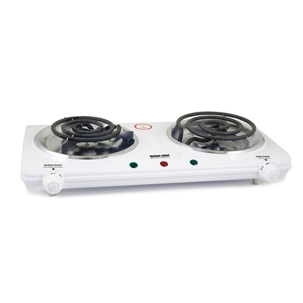 Better Chef White 11-in 2 Elements Coil Electric Cooktop