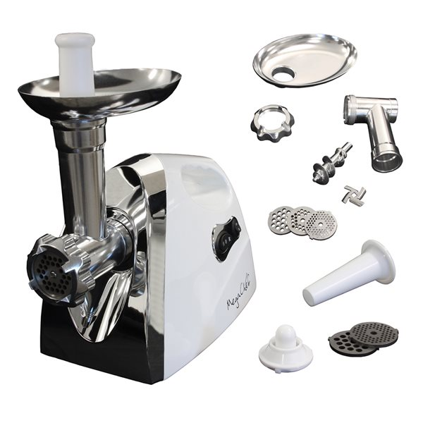 Megachef 2-Speed White Residential Electric Meat Grinder