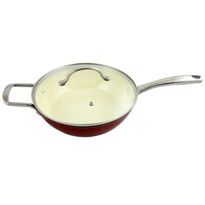 Gibson Home 1-piece Lochner 3 Quart 10.25-in Cast Iron Cooking Pan Lid Included