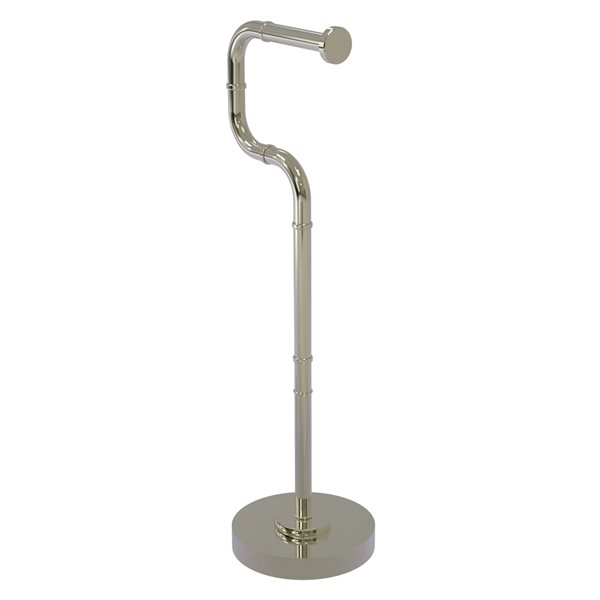 Allied Brass Remi Freestanding Single Post Toilet Paper Holder in Polished Nickel
