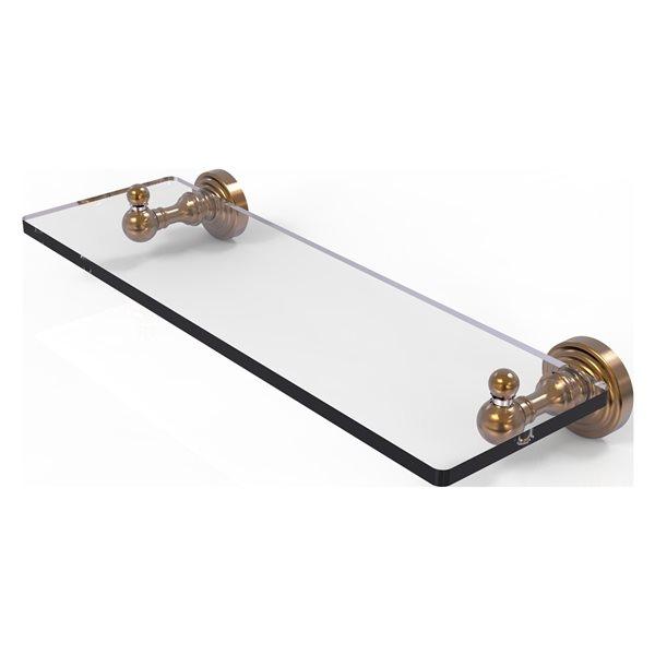 Allied Brass Waverly Place Brushed Bronze Glass Wall Mount Bathroom Shelf