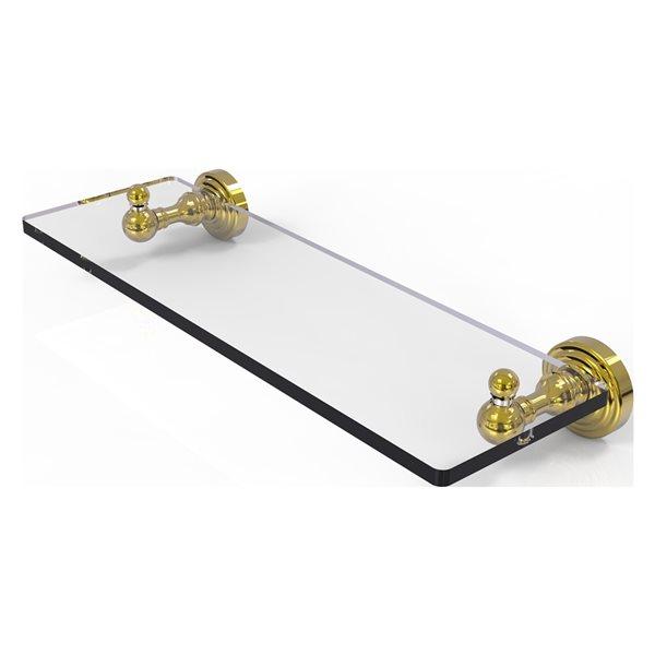 Allied Brass Waverly Place Polished Brass Glass Wall Mount Bathroom Shelf