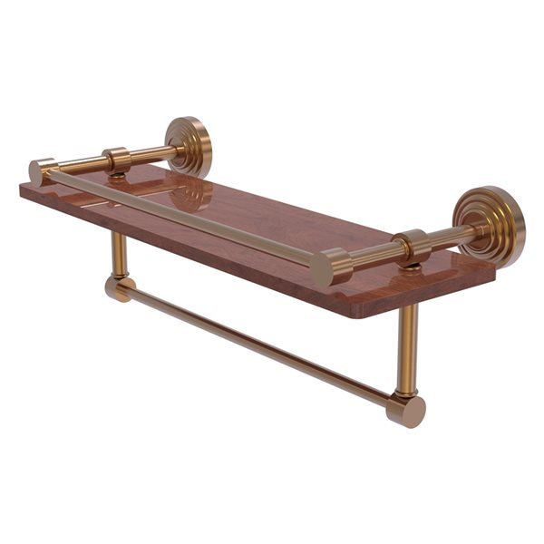 Allied Brass Waverly Place Brushed Bronze Wood Wall Mount Bathroom Shelf