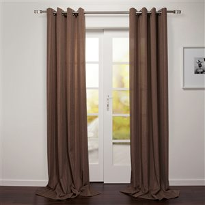 Starlite Tropea 95-in Brown Polyester Light Filtering Single Curtain Panel