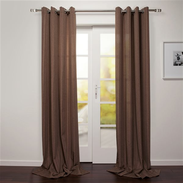 Panneau de rideau filtrant simple Tropea par Starlite brown de 95 po en polyester