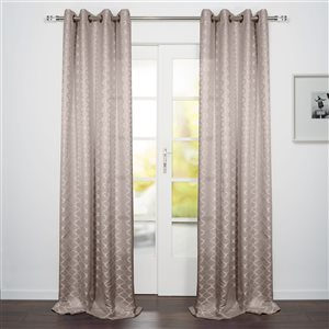 Starlite Como 95-in Charcoal Grey Polyester Light Filtering Single Curtain Panel