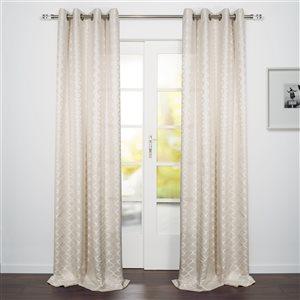 Starlite Como 95-in Cream Polyester Light Filtering Single Curtain Panel