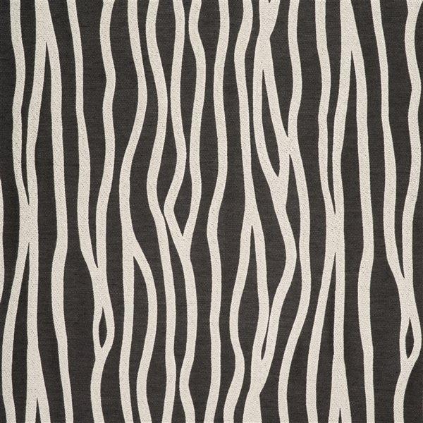 Panneau de rideau filtrant simple Rialto par Starlite gris charbon de 95 po en polyester