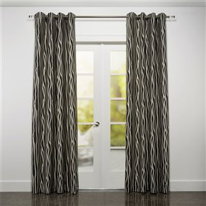 Starlite Rialto 95-in Charcoal Grey Polyester Light Filtering Single Curtain Panel