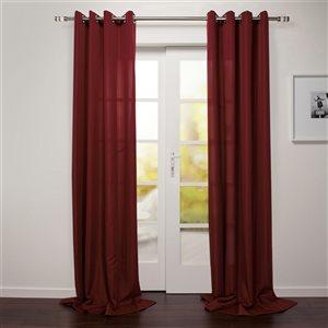 Starlite Tropea 95-in Dark Red Polyester Light Filtering Single Curtain Panel