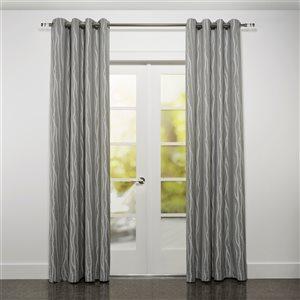 Starlite Rialto 95-in Grey Polyester Light Filtering Single Curtain Panel