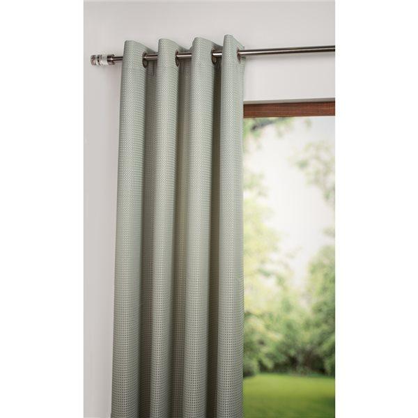 Starlite Jazz 108-in Blue Polyester Light Filtering Single Curtain Panel