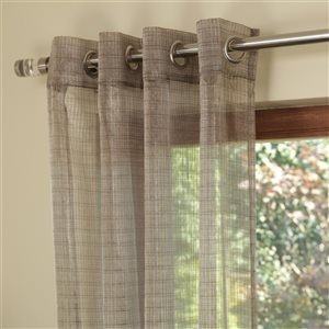 Starlite Koby 95-in Sheer Brown Polyester Light Filtering Single Curtain Panel