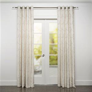 Starlite Riva 95-in Beige Polyester Light Filtering Single Curtain Panel
