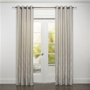 Starlite Tivoli 95-in Grey Polyester Light Filtering Single Curtain Panel