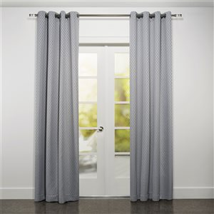 Starlite Kimono 95-in Grey Polyester Light Filtering Single Curtain Panel