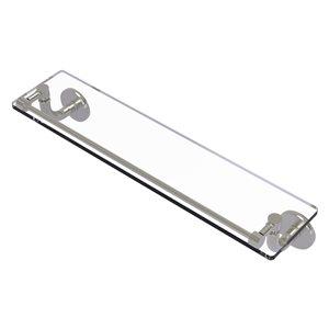 Étagère en verre Remi de meuble-lavabo avec rail de galerie de 22 po