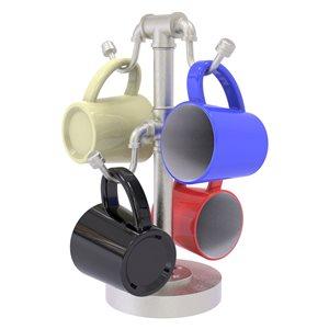 Allied Brass 9.4-in W x 9.4-in L x 14.5-in H Silver Metal Mug Holder