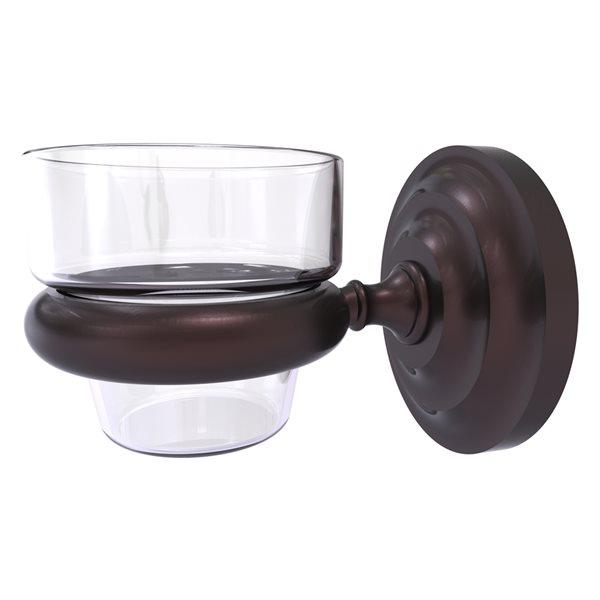Allied Brass Prestige Que New Antique Bronze Glass Votive Candle Holder