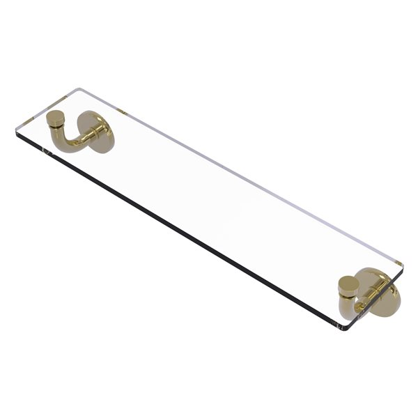 Remi Collection 22 Inch Glass Vanity Shelf with Beveled Edges