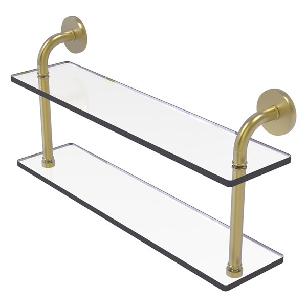 Remi Collection 22 Inch Two Tiered Glass Shelf