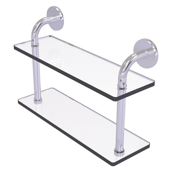 Étagère en verre à deux niveaux de 16 po (40.64 cm) de collection Remi