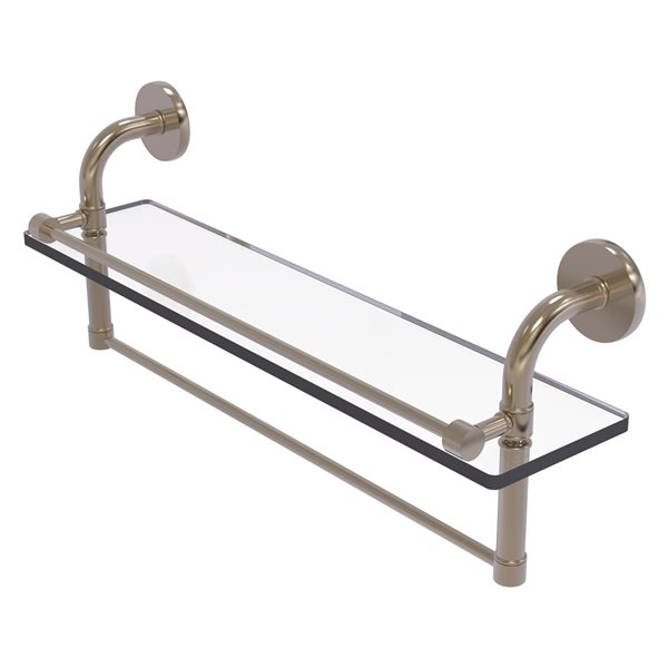 Remi Collection 22 Inch Gallery Glass Shelf with Towel Bar