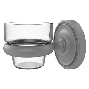 Allied Brass Prestige Regal Matte Grey Glass Votive Candle Holder